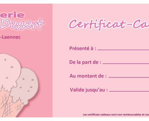 Ice Cream Shop Gift Certificate