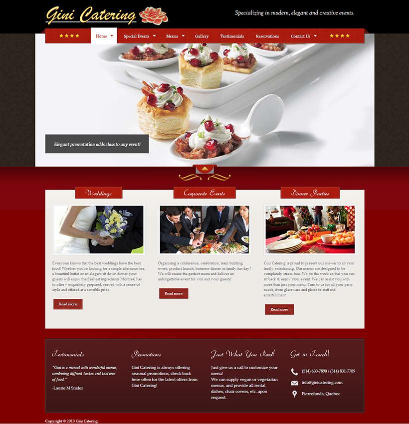 Fraser Focus Gini Catering Website